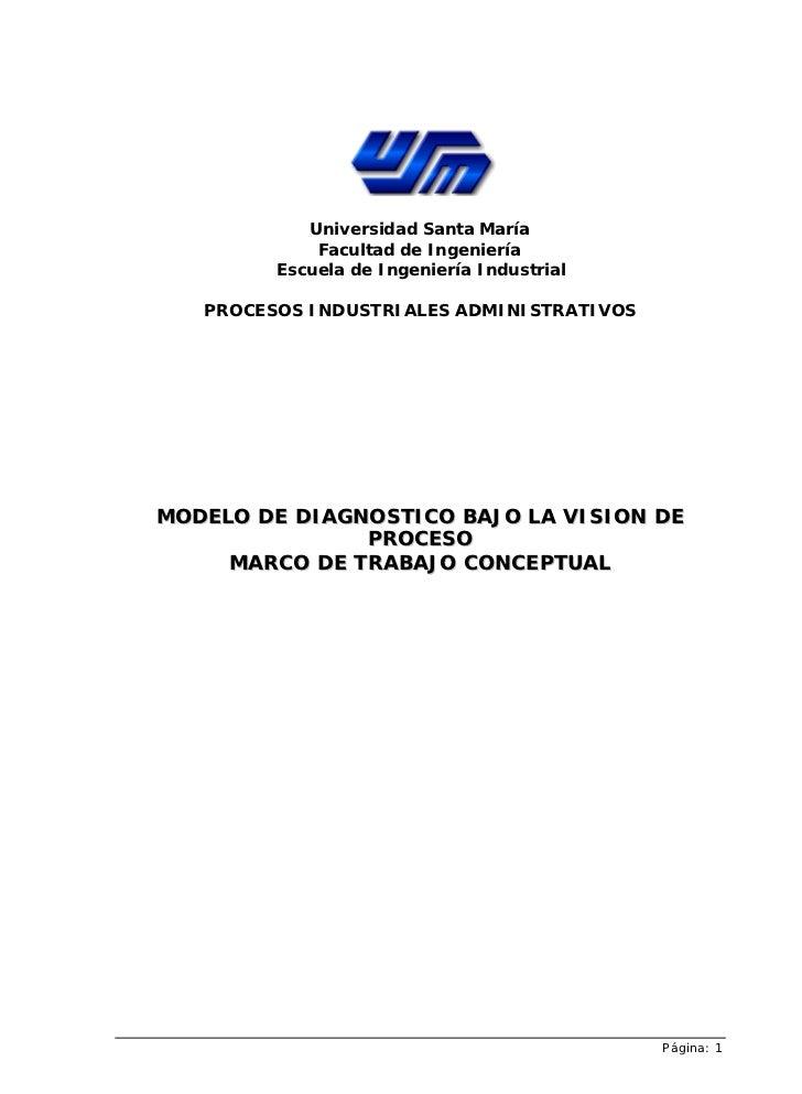 Universidad Santa María             Facultad de Ingeniería         Escuela de Ingeniería Industrial   PROCESOS INDUSTRIALE...