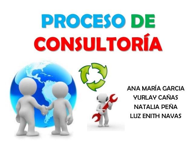 PROCESO DECONSULTORÍA       ANA MARÍA GARCIA         YURLAY CAÑAS         NATALIA PEÑA        LUZ ENITH NAVAS