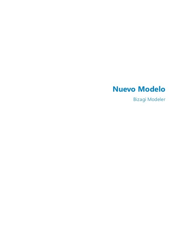 Nuevo Modelo Bizagi Modeler