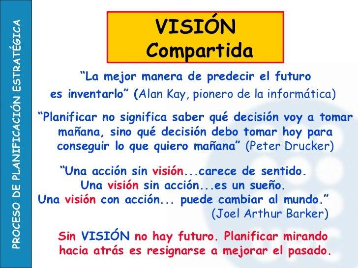 """"""" La mejor manera de predecir el futuro  es inventarlo"""" ( Alan Kay, pionero de la informática)   VISIÓN Compartida  """" Plan..."""