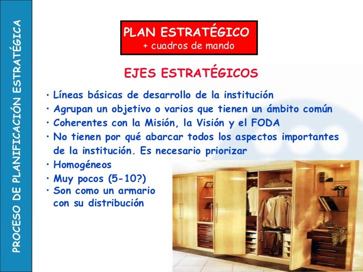 EJES ESTRATÉGICOS <ul><li>Líneas básicas de desarrollo de la institución </li></ul><ul><li>Agrupan un objetivo o varios qu...