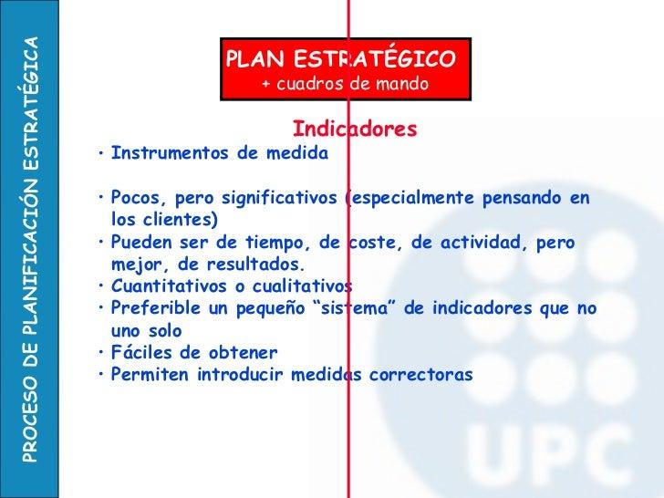 PLAN ESTRATÉGICO  + cuadros de mando <ul><li>Indicadores   </li></ul><ul><li>Instrumentos de medida  </li></ul><ul><li>Poc...