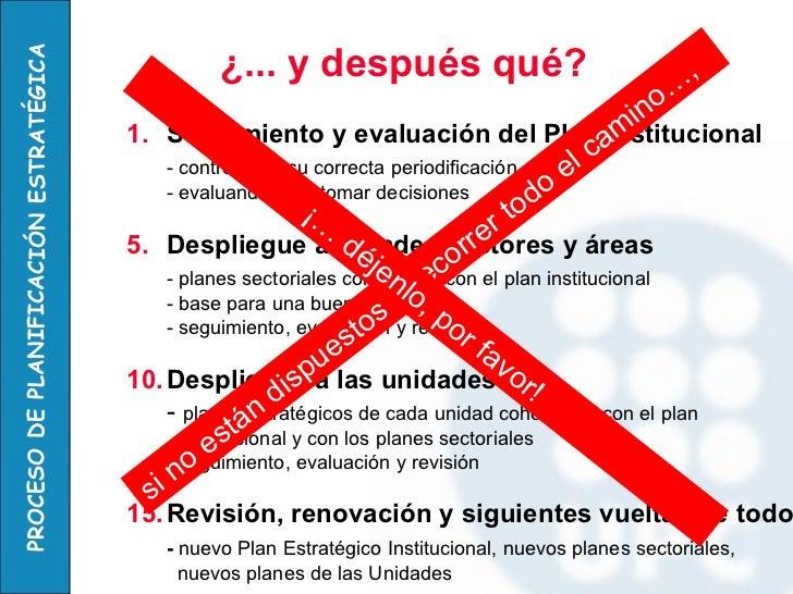 <ul><li>Seguimiento y evaluación del Plan Institucional </li></ul><ul><li>- controlando su correcta periodificación </li><...