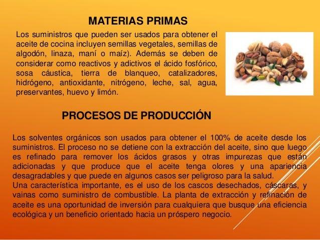 Proceso de producci n del aceite for Procedimiento de cocina