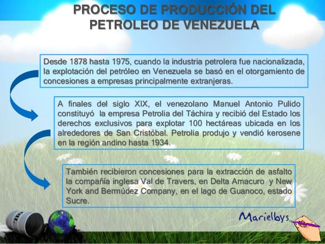 Proceso de produccion del petroleo de venezuela for Descripcion del proceso de produccion