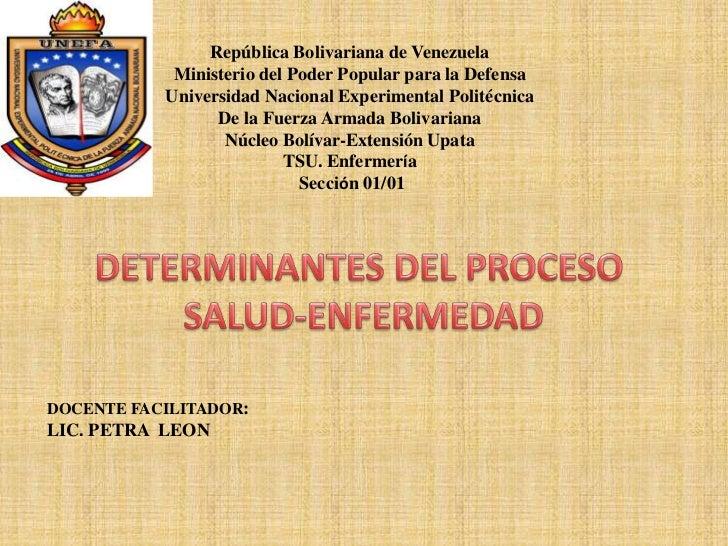 República Bolivariana de Venezuela<br />Ministerio del Poder Popular para la Defensa<br />Universidad Nacional Experimenta...