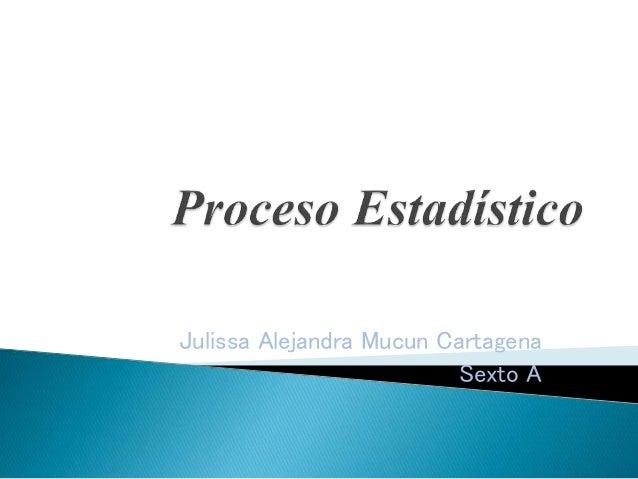 Julissa Alejandra Mucun Cartagena Sexto A