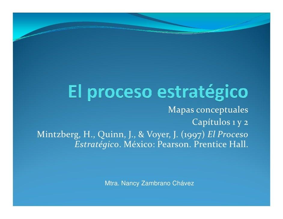 Mapas conceptuales                                          Capítulos 1 y 2 Mintzberg, H., Quinn, J., & Voyer, J. (1997) E...