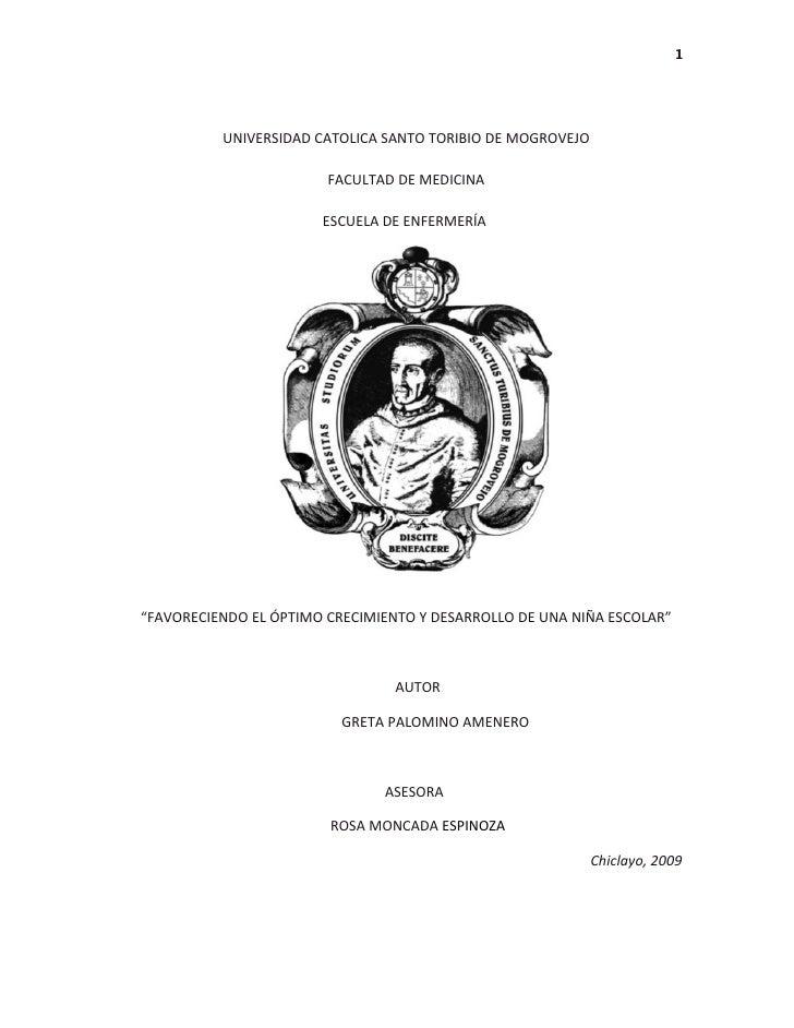 1               UNIVERSIDAD CATOLICA SANTO TORIBIO DE MOGROVEJO                          FACULTAD DE MEDICINA             ...