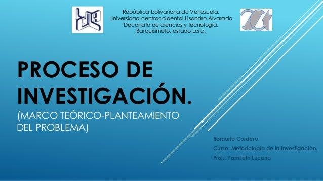 República bolivariana de Venezuela,  Universidad centroccidental Lisandro Alvarado  Decanato de ciencias y tecnología,  PR...