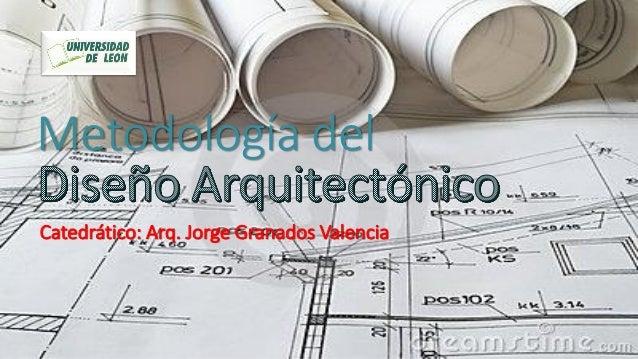 Metodología del Catedrático: Arq. Jorge Granados Valencia