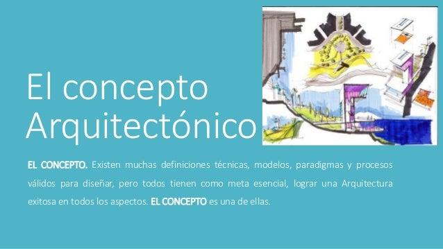 Proceso metodol gico del dise o arquitect nico for El concepto de arquitectura