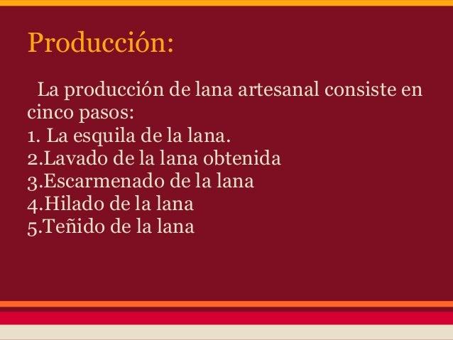 Circuito Productivo De La Lana : Proceso productivo de la lana