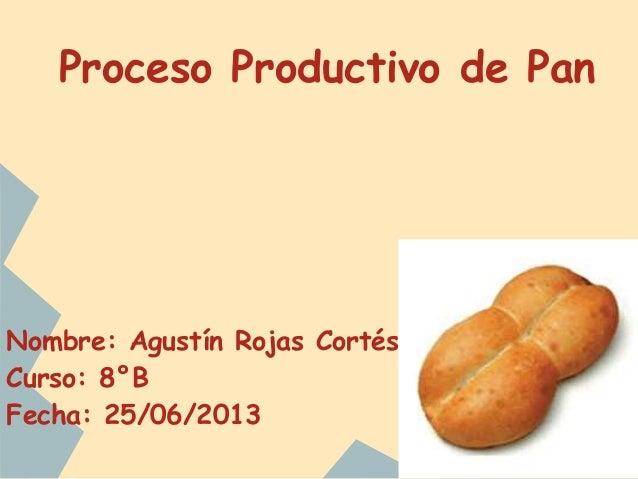 Circuito Productivo Del Pan : Proceso productivo del pan rojas