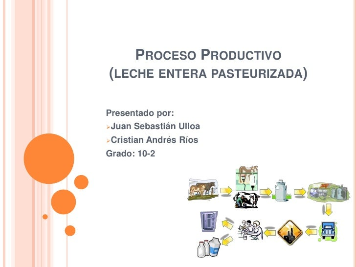 Proceso productivo leche for Descripcion del proceso de produccion