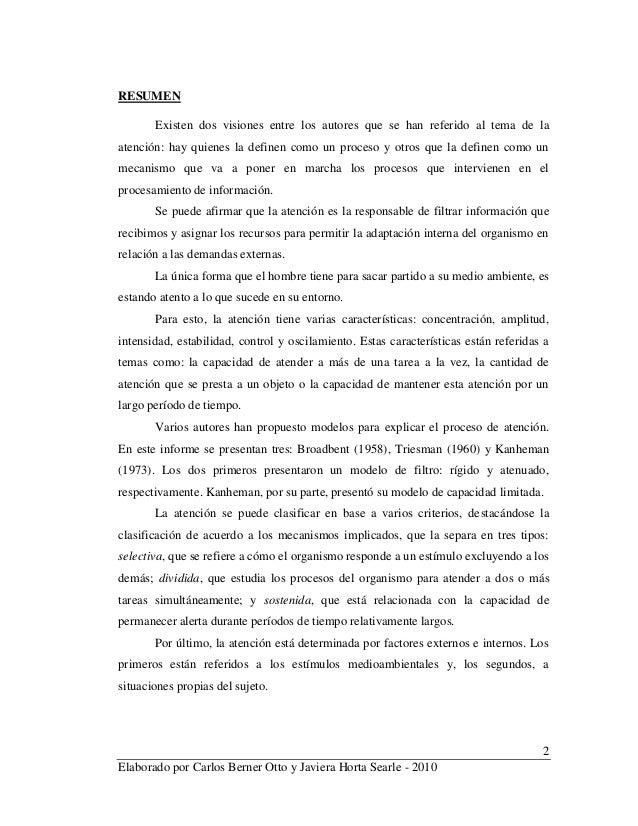 2 Elaborado por Carlos Berner Otto y Javiera Horta Searle - 2010 RESUMEN Existen dos visiones entre los autores que se han...