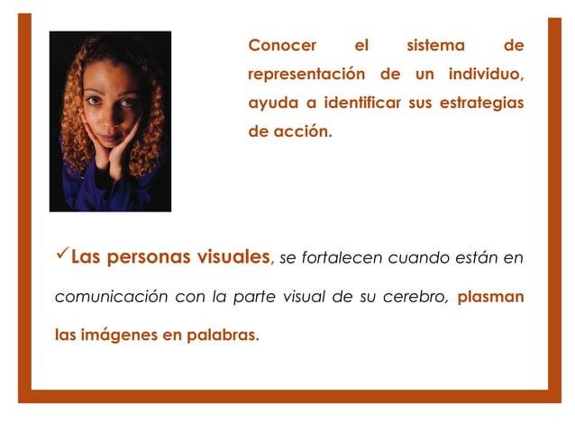 Conocer      el     sistema     de                       representación de un individuo,                       ayuda a ide...