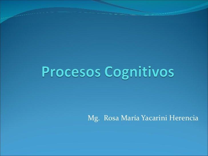 Mg.  Rosa María Yacarini Herencia