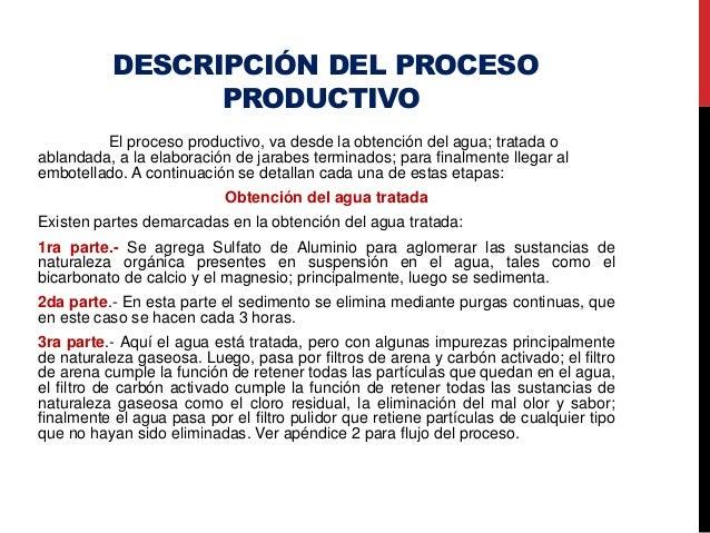 Procesos de envasado de bebidas gaseosas jens for Descripcion del proceso de produccion