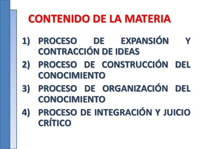 Procesos de expansion y contraccion de ideas Slide 3