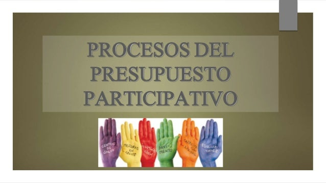 PROCESOS DEL PRESUPUESTO PARTICIPATIVO