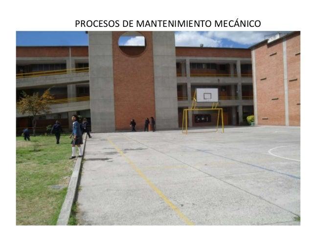 PROCESOS DE MANTENIMIENTO MECÁNICO