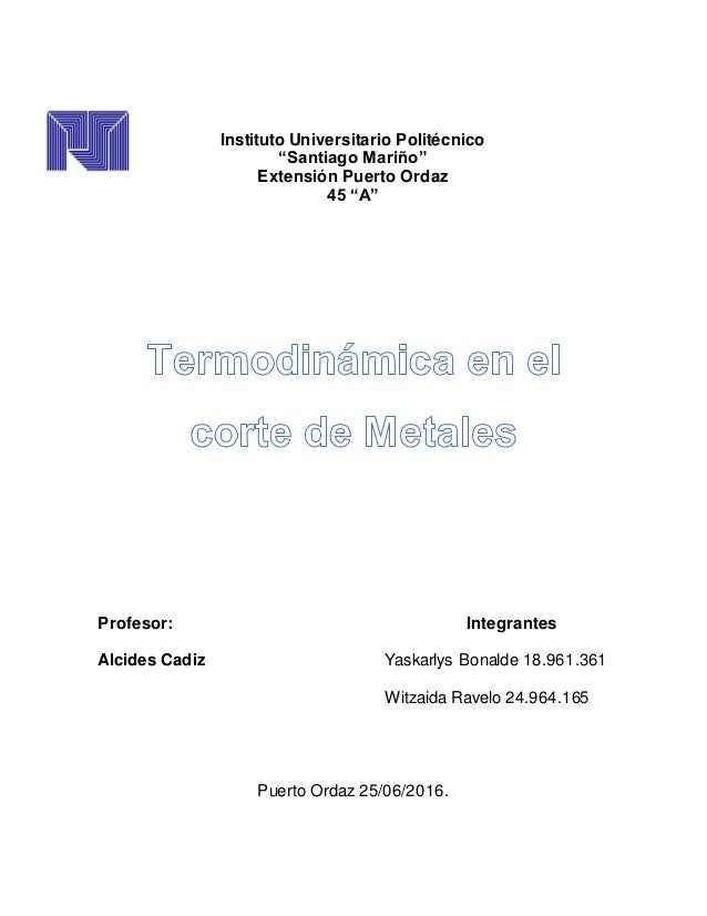 """Instituto Universitario Politécnico """"Santiago Mariño"""" Extensión Puerto Ordaz 45 """"A"""" Profesor: Integrantes Alcides Cadiz Ya..."""