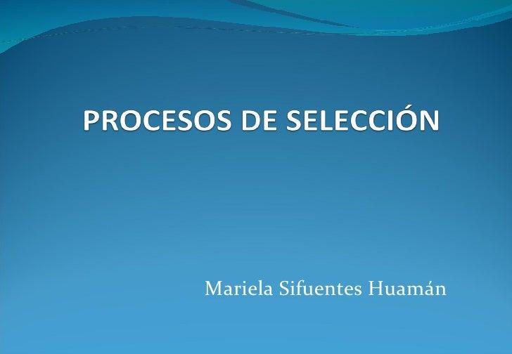 Mariela Sifuentes Huamán