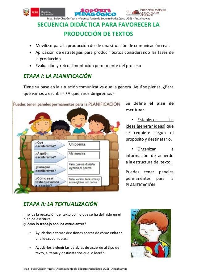 Mag. Sulio Chacón Yauris –Acompañante de Soporte Pedagógico UGEL - Andahuaylas Mag. Sulio Chacón Yauris –Acompañante de So...