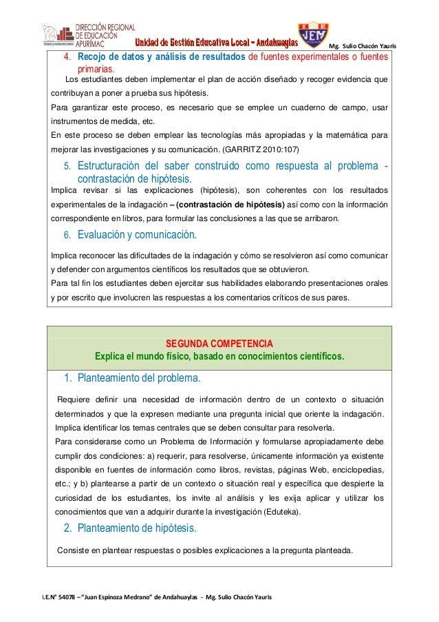PROCESOS DIDÁCTICOS DE CIENCIA Y AMBIENTE Slide 2