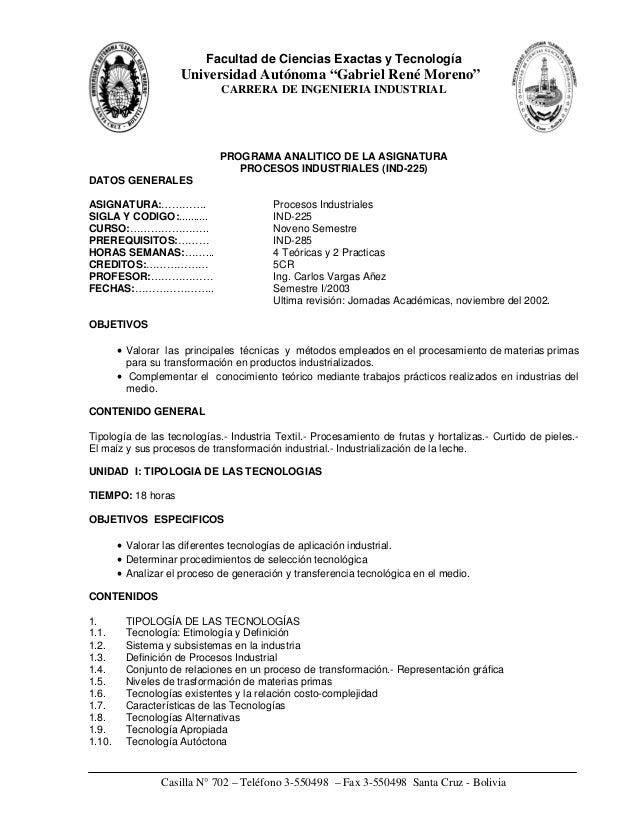 """Facultad de Ciencias Exactas y Tecnología                     Universidad Autónoma """"Gabriel René Moreno""""                  ..."""