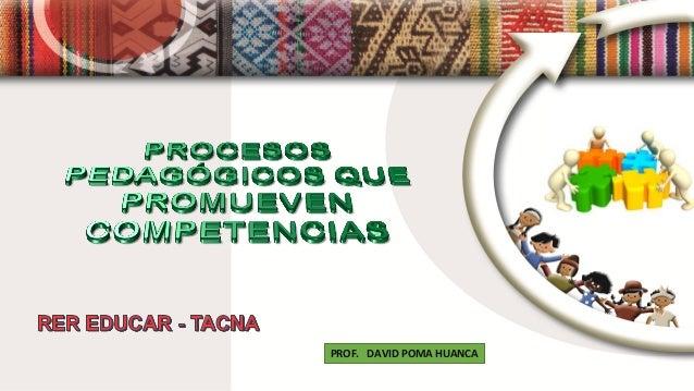 PROF. DAVID POMA HUANCA