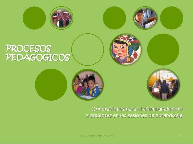 PROCESOSPEDAGOGICOS                     Orientaciones para el acompañamiento                   a docentes en las sesiones ...