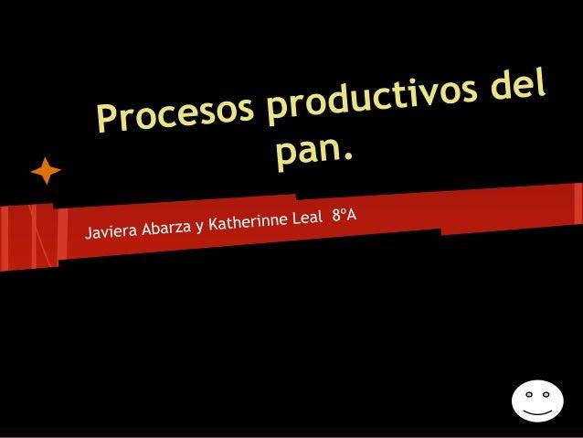 Circuito Productivo Del Pan : Procesos productivos del pan