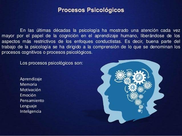 Resultado de imagen para procesos psicológicos especializados