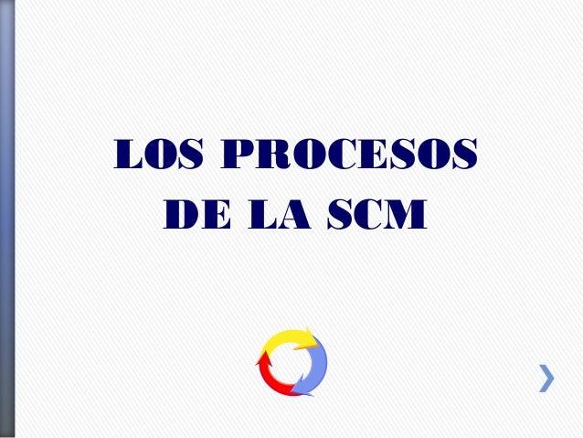 LOS PROCESOS DE LA SCM