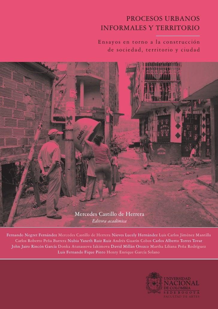 Procesos Urbanos Informales Y Territorio