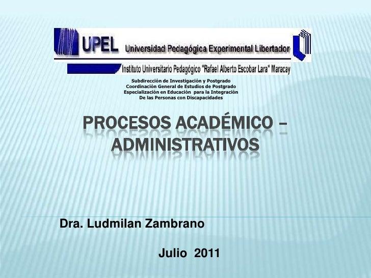 Subdirección de Investigación y Postgrado          Coordinación General de Estudios de Postgrado         Especialización e...