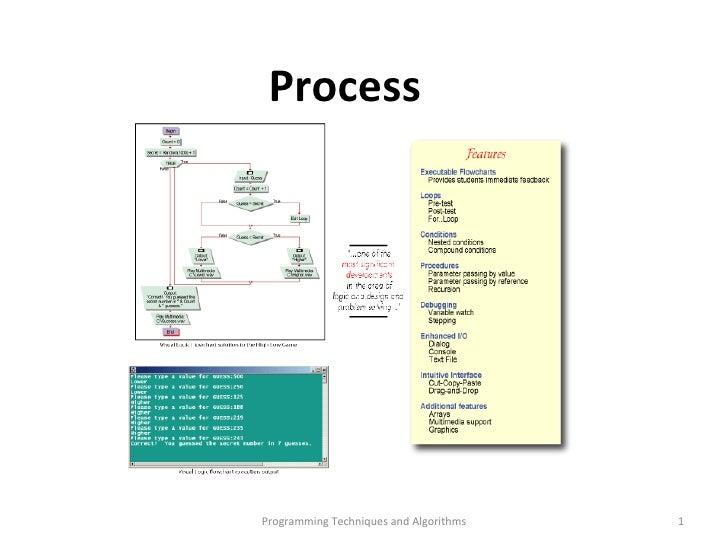 Programming Techniques and Algorithms Process