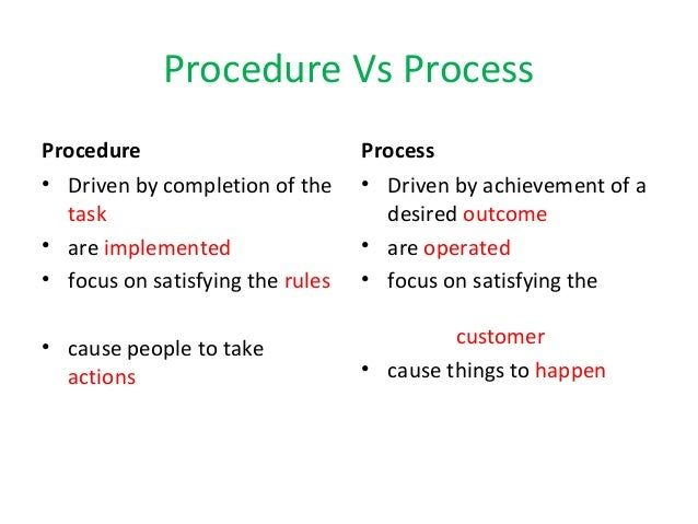 Difference Between Policies & Procedures Vs. SOPs