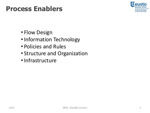 Process based management examples of information technology enablers