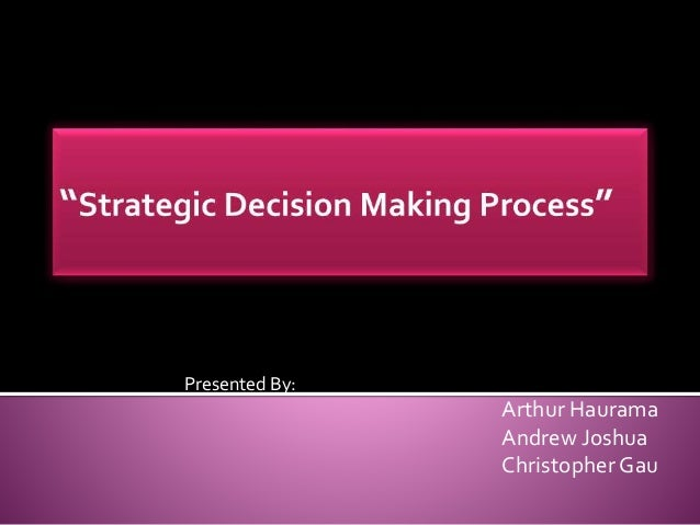 strategic decision making summary Mars - business planning and financing management series building block 2 - the business plan and executive summary how to use this workbook guide 1 make it a team exercise—but make it quick pulling the background information and strategy together to create a coherent.