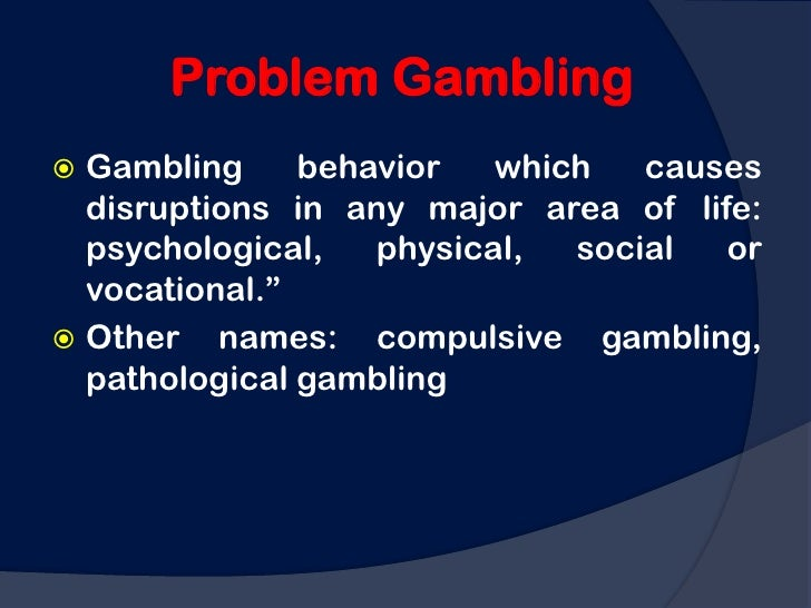 Pathological gambling psychology