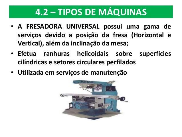 Processos de fabrica o fresamento ifsp sp for Tipos de fresadoras