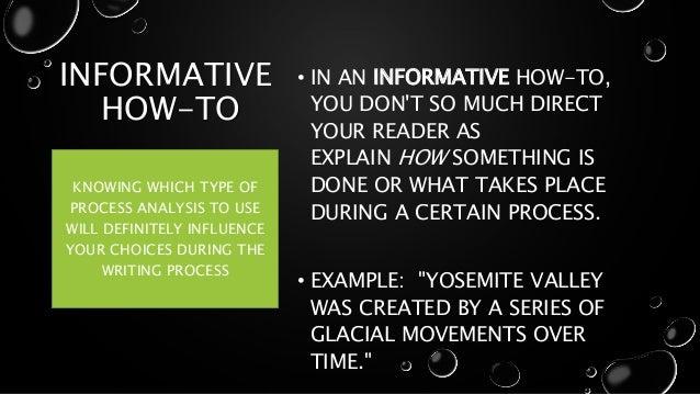 informative process analysis