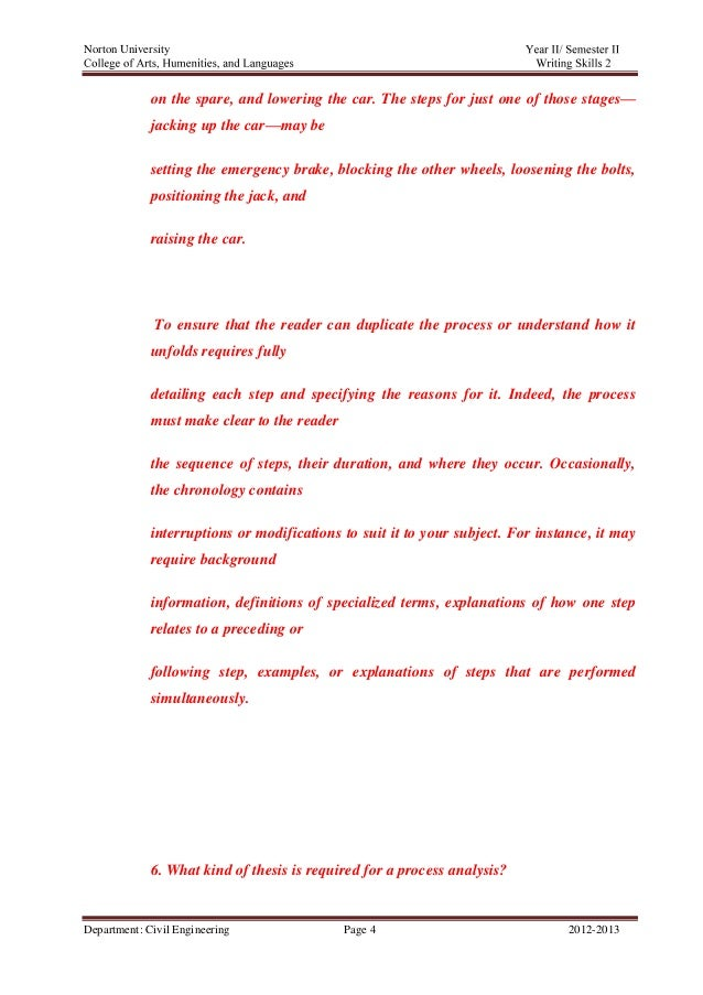 process analysis assignment