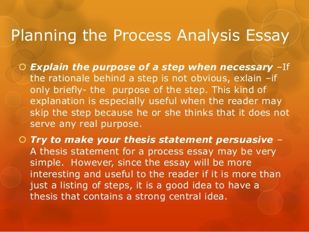 process analysis essay 8 planning the process analysis essay