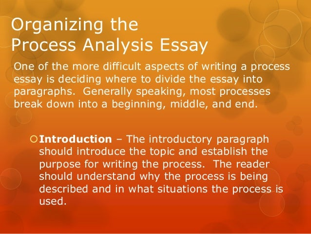 process analysis essay 9 organizing theprocess analysis