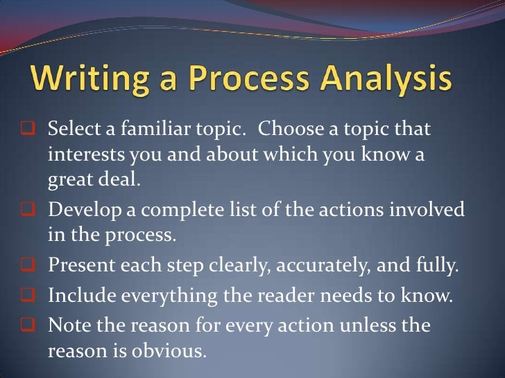essays process analysis 23032015 the process of learning a musical instrument has changed a lot in the recent years, and it is all thanks to the internet before websites with.