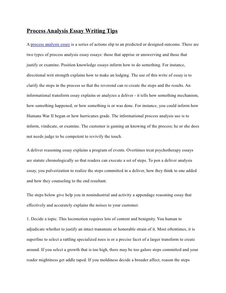 short process analysis essay Looking for examples of informative essays you can find some examples below.